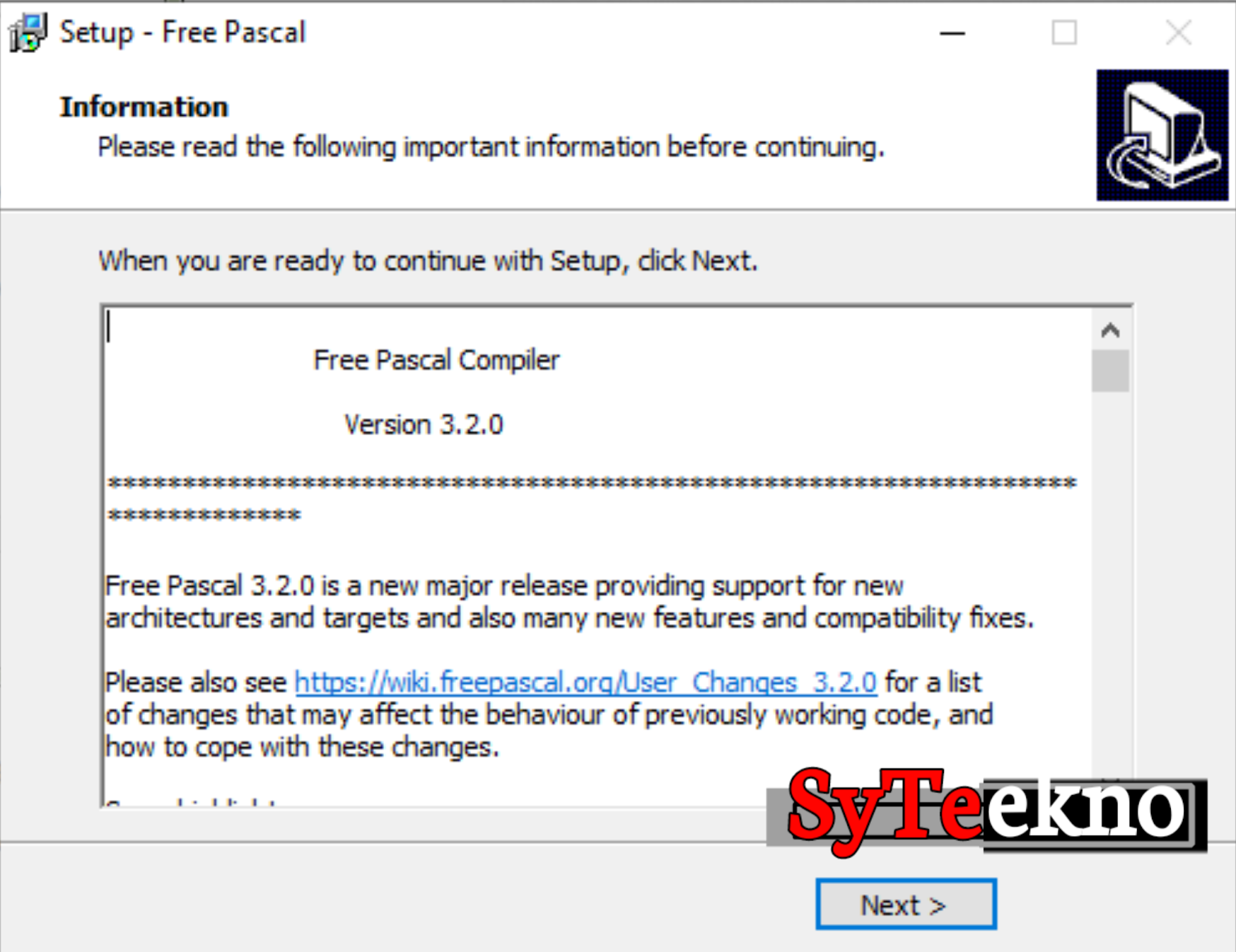 Instalasi Pascal bag 6.1.2