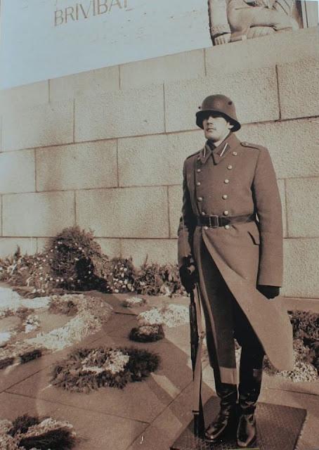 Рига. Караул возле монумента Свободы