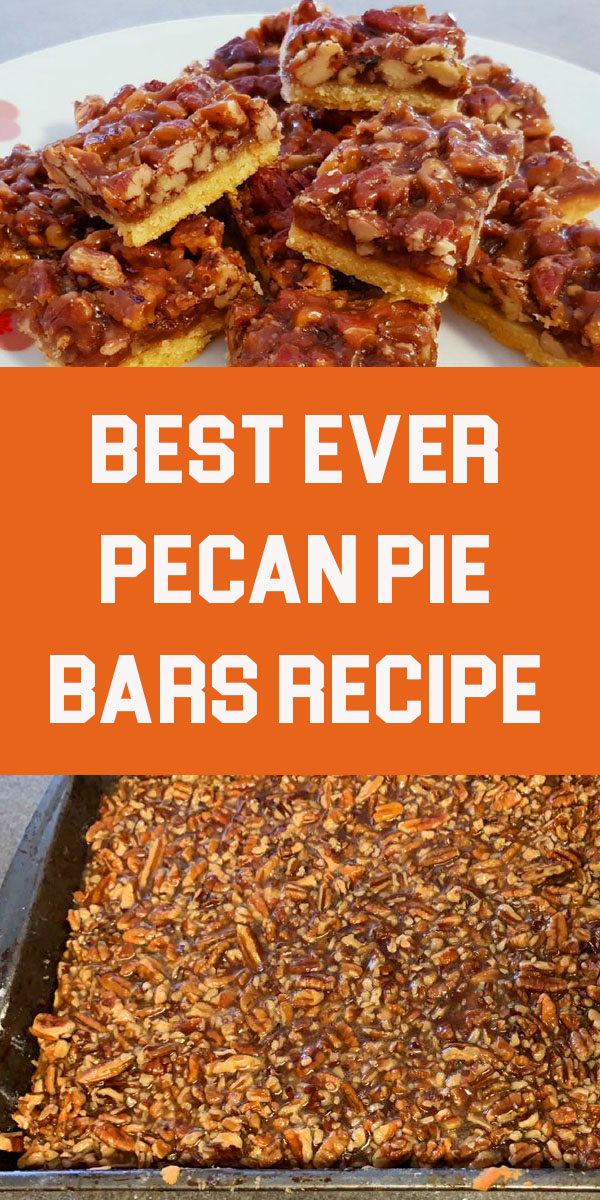 Best Ever Pecan Pie Bars are so good people offer to pay me for them. A fabulous recipe with a caramelized pecan pie set atop a shortbread crust is the absolute perfect nut bar. My family requests more of this dessert than any other every year. #desserts #pecanpie #pie #bars