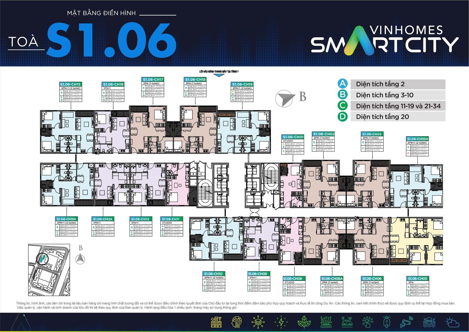 thiet ke to s106 vinhomes smart city