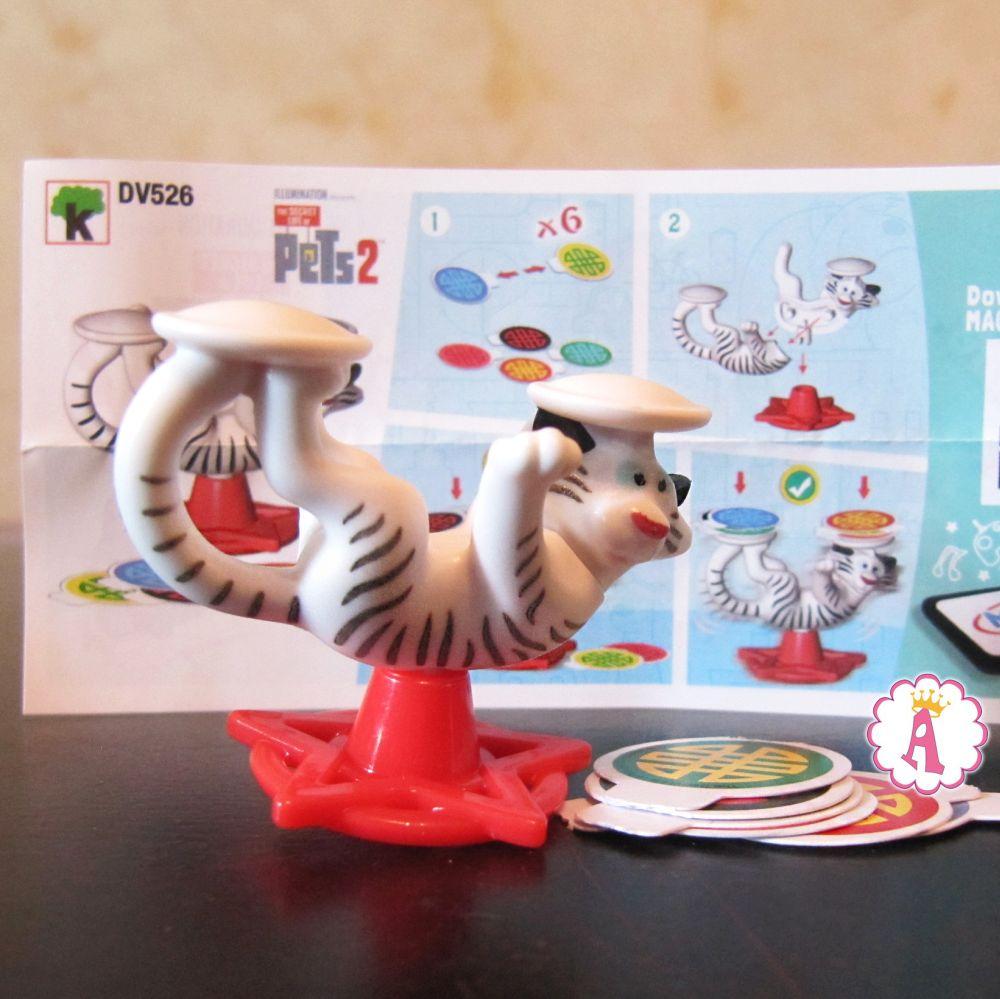 Тигренок Хо коллекционный номер DV526 киндер сюрприз Тайная жизнь домашних животных 2