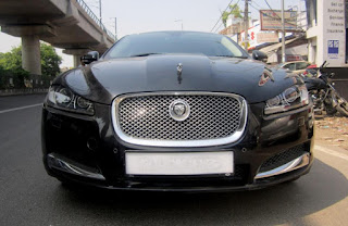 New jaguar black color car photo