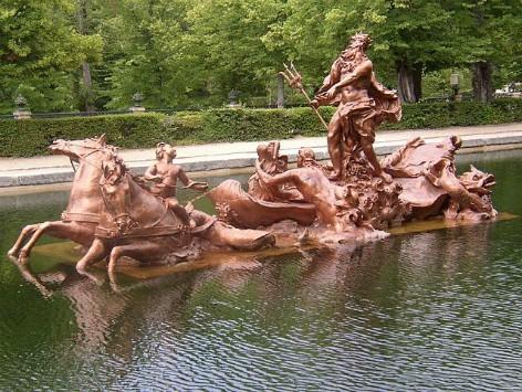 Escultura de Neptuno y sus caballos