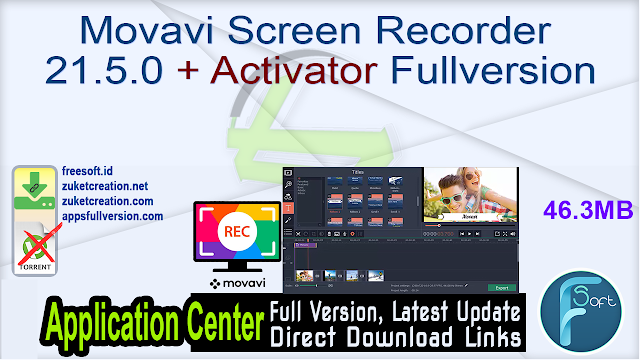 Movavi Screen Recorder 21.5.0 + Activator Fullversion
