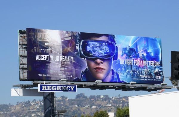 Ready Player One movie billboard