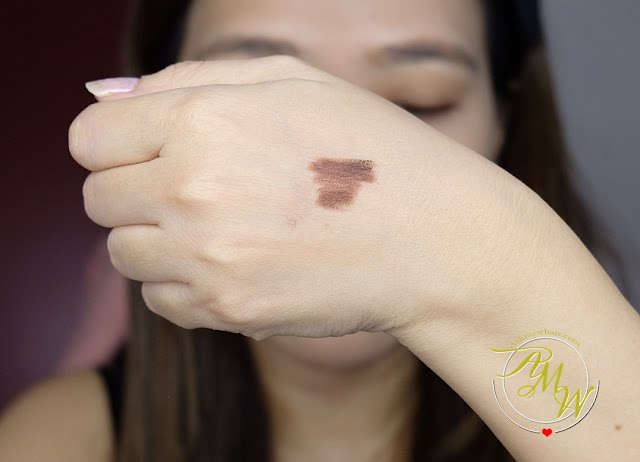 a swatch photo of Absolute New York Waterproof Gel Eyeliner Review