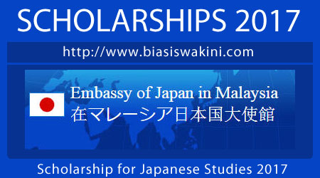 Scholarship For Japanese Studies 2017