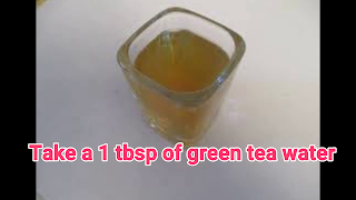 image of green tea water