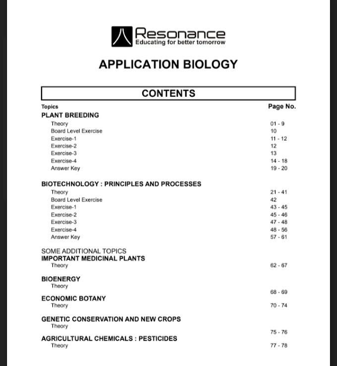 [PDF] Download Resonance Biology Module For NEET 02