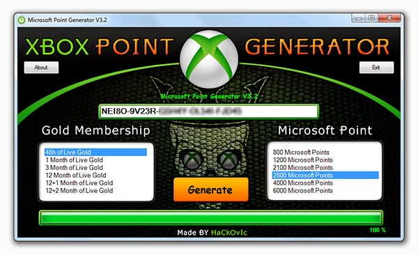 Microsoft Point Generator V3.2 Features