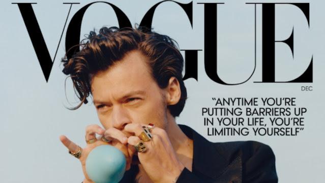 Harry Styles crea caos al usar vestido para Vogue (+Fotos)