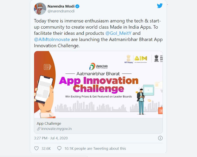 Aatmanirbhar Bharat App Innovation Challenge launched by PM: How to apply Eligibility, selection, prizes,