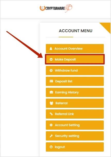 Пополнение баланса в Crypto Aware Ltd