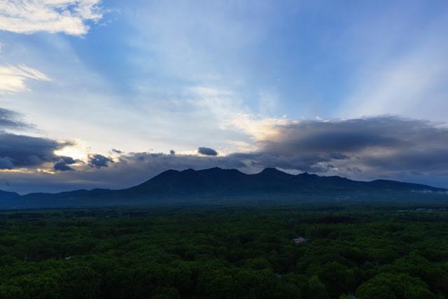那須連山の夕景