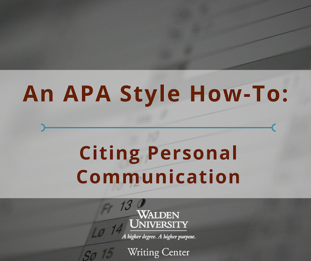 Citing Personal Communication: An APA How-To
