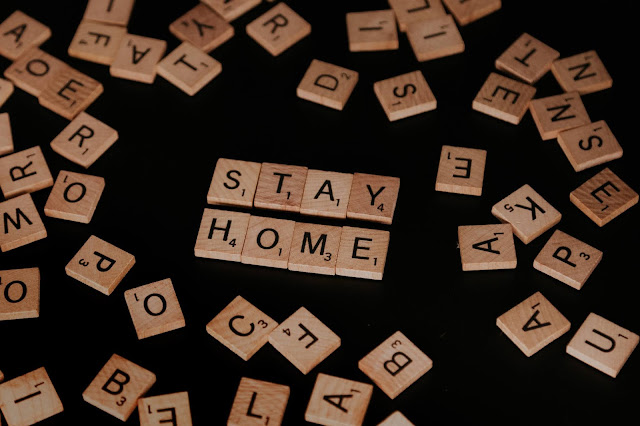 Photo by Priscilla Du Preez on Unsplash scrabble tiles spell stay home