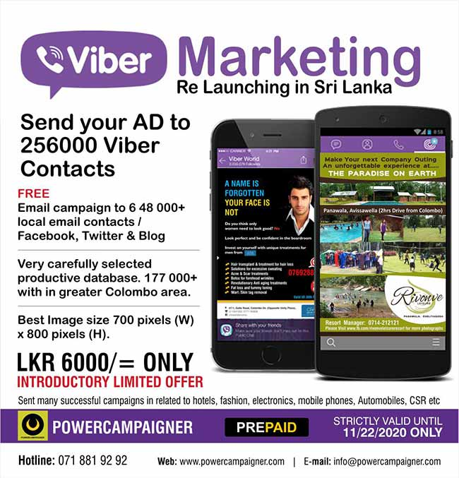 Advertise on Viber   Re launching in Sri Lanka.