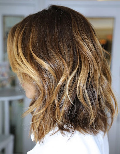 Ombre Hair Brown To Caramel To Blonde Medium Length The Modernette....