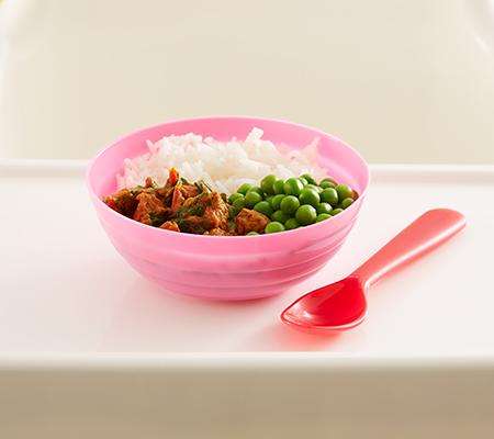 Curry de ternera y espinacas