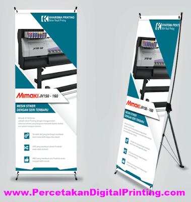 Contoh Desain X BANNER Dari Percetakan Digital Printing Terdekat