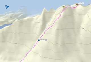 Stowe Peak Map, Prince of Wales Range Vancouver Island