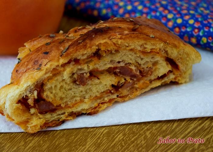 receita de pão recheado