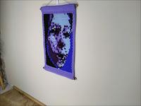 Beside Myself - Original Abstract Portrait Tapestry Fine Art by Jen Ten