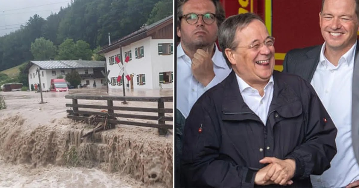German Politician Caught Laughing And Joking During Speech On Floods That Have Killed Over 180 People