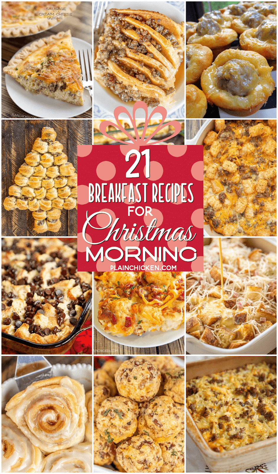 collage of 12 breakfast recipes