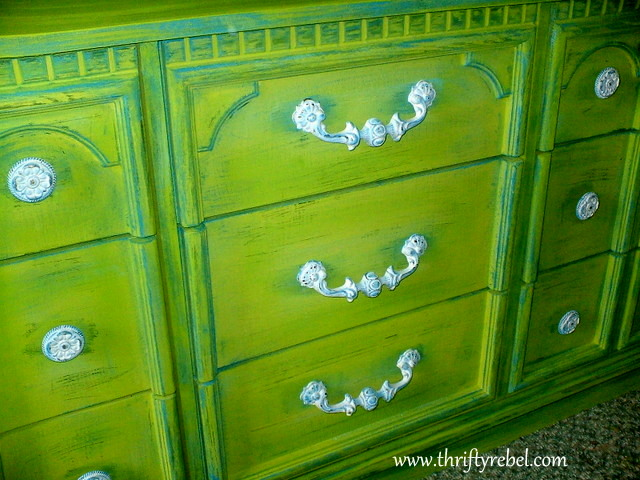 weather-beaten--lime-green-dresser-makeover