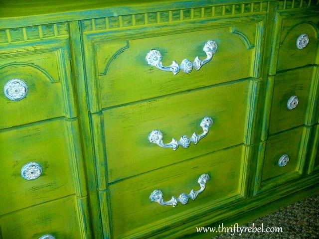 weather-beaten--lime-green-dresser-makeover