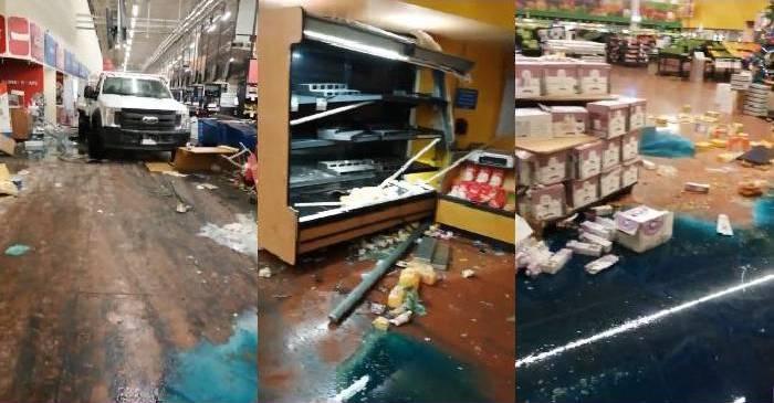 Convoy de sicarios ingresan como juan por su casa a un Walmart de Celaya para robar y abastecerse de mercancía