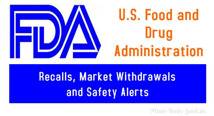 Food and drug administration recalls