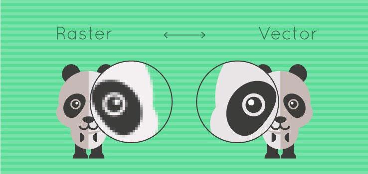 Perbedaan Raster Bitmap Vector