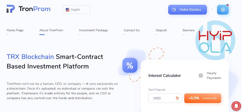 [SCAM] Review TronProm - Dự án smart contract TRX với lãi từ 5% hằng ngày