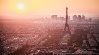 Paris Cityscape Eiffel Tower Sunset Awesome Photography HD Wallpaper