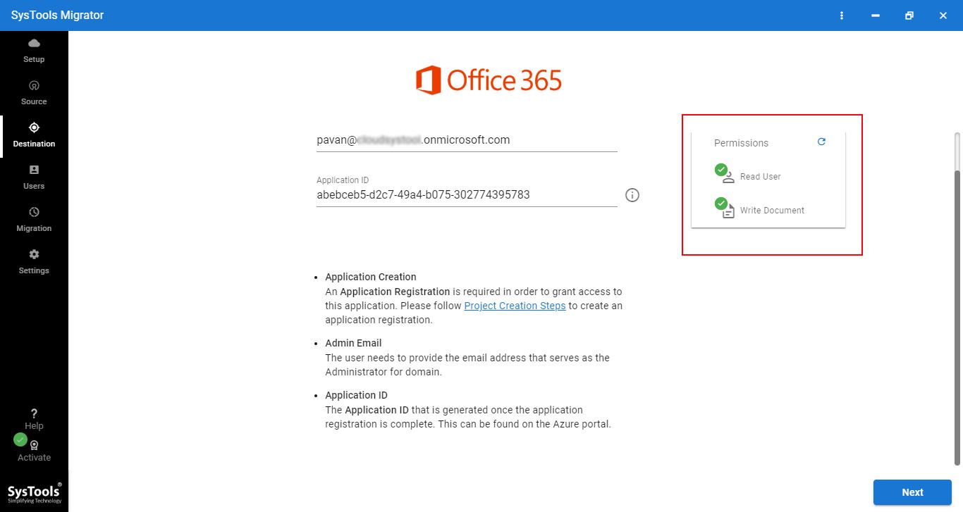 O365 to O365 migration tool