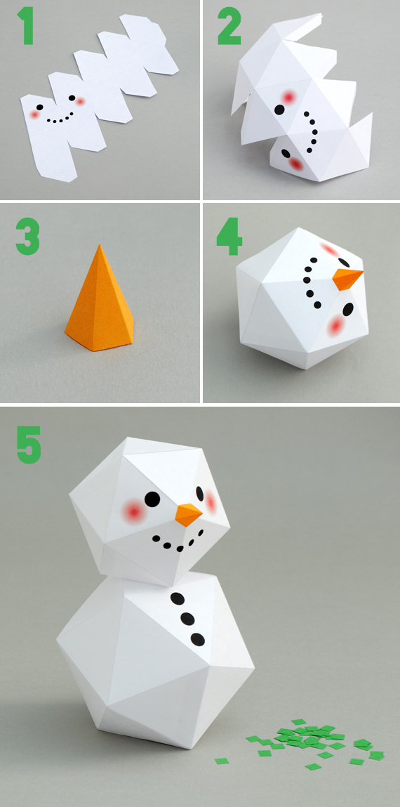 Cách làm người tuyết bằng giấy