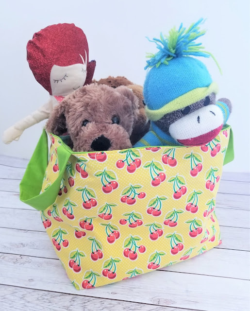 How to Make a Fabric Basket Toy Bin