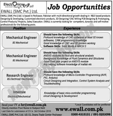 Peshawar for Engineers jobs