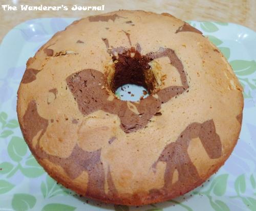 The Wanderer's Journal: Making Chocolate Orange Marble Chiffon Cake