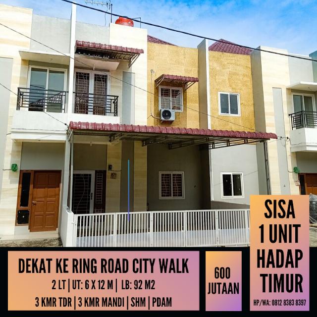 Jual Murah Sisa 1 Unit, Hadap Timur Pasti Bawa Hoki, Lokasi Dekat Ring Road City Walk Medan
