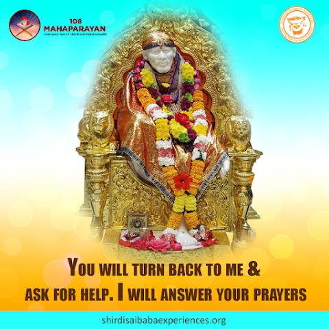 Answer To Prayers - Sai Baba Idol On Throne Image
