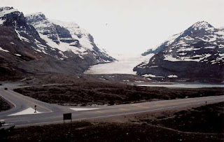 Athabasca Glacier Across The Icefields Parkway.