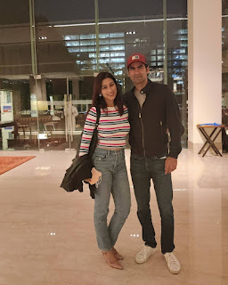 Mohammad Kaif And Pooja At The Airport
