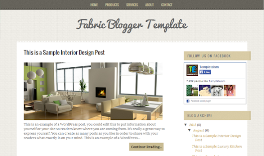 Fabric Blogger Template | Templateism