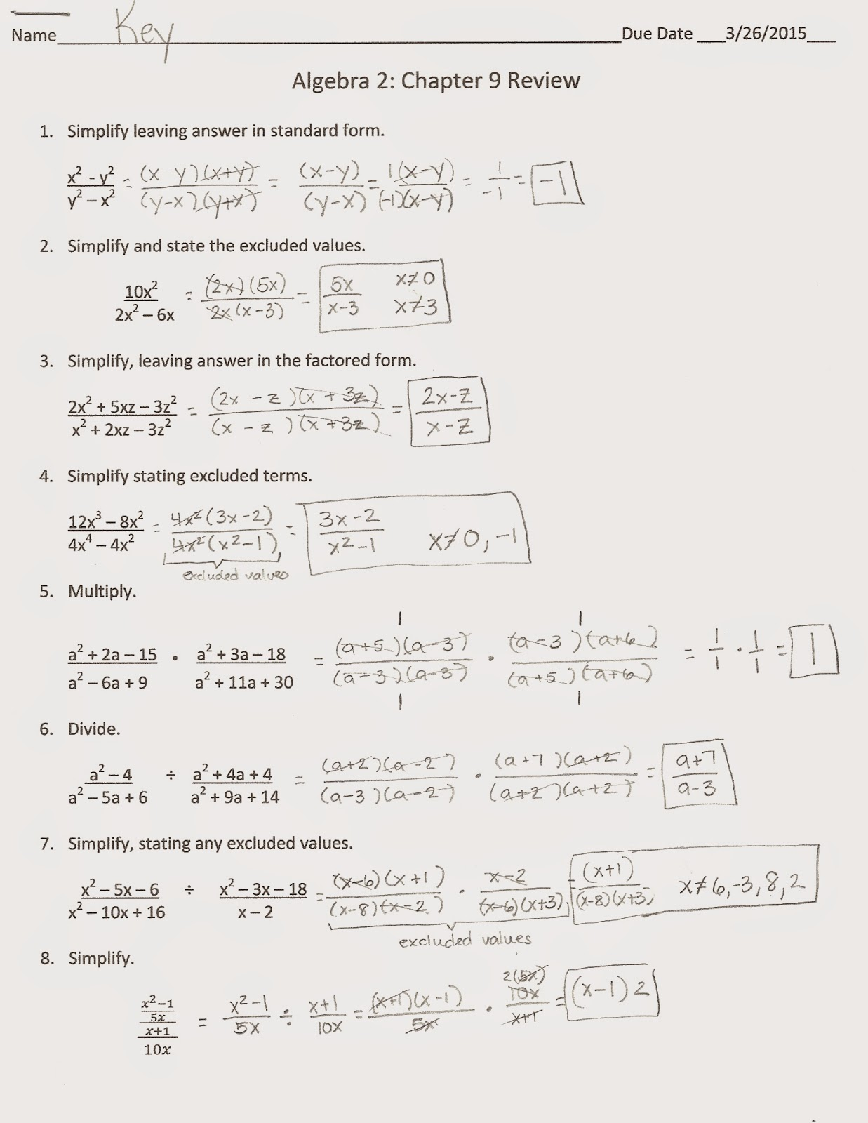 Printables Algebra 1 Review Worksheet algebra 1 review and practice html alerts 2 chapter 9 answers