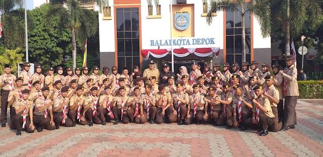 Walikota Lepas Pasukan Pengawal Panji Pramuka