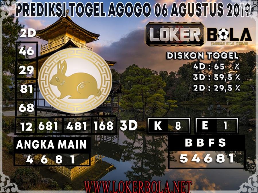 PREDIKSI JITU AGOGO LOKERBOLA 06 AGUSTUS 2019