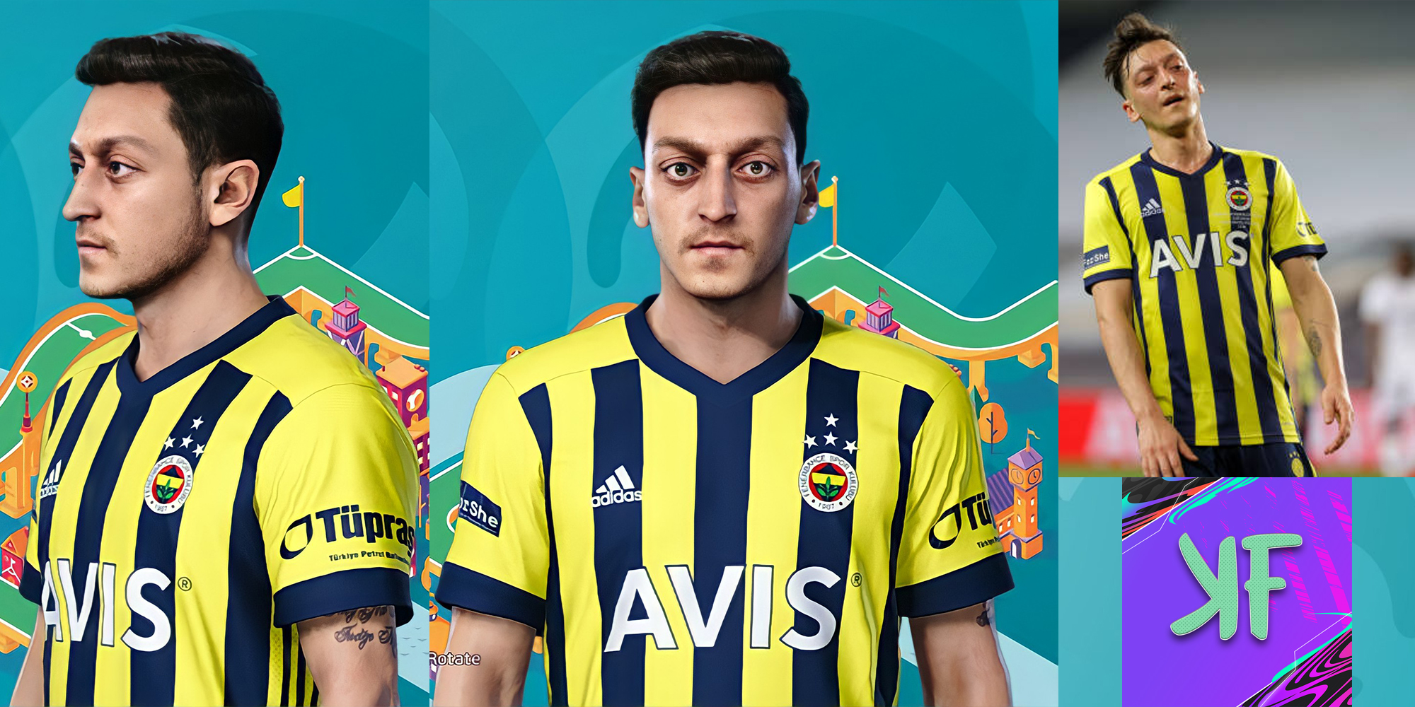 PES 2021 Mesut Özil (Face + Tattoo)